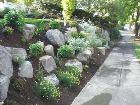 boulders rock in the garden precision landscape services. Black Bedroom Furniture Sets. Home Design Ideas